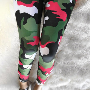Red Camouflage Leggings | Daniki Limited