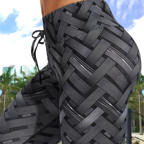 Black Steel Lattice Leggings | Daniki Limited