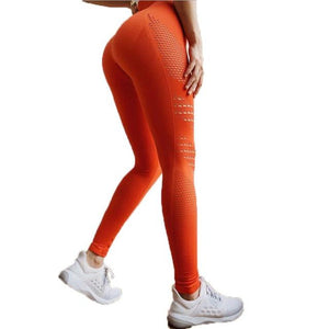 Orange Compression Leggings | Daniki Limited