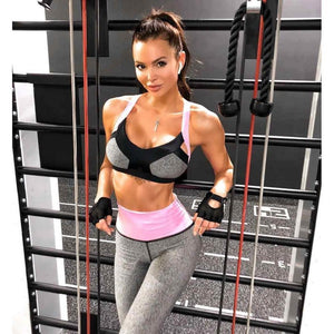 Grey Patchwork Fitness Set | Daniki Limited
