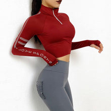 Load image into Gallery viewer, Red Sports Love Top | Daniki Limited