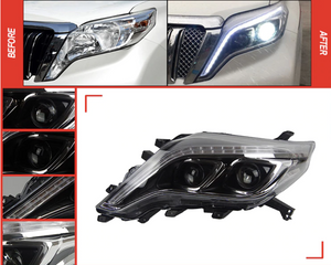 Prado 2014-2017 Headlights with LED day time running lights(Pair)(Members 20% Off)