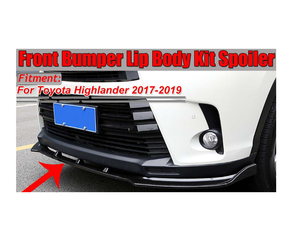 Highlander 2016-2020 Front Bumper lip 3pc (Members 20% Off)