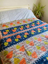 Load image into Gallery viewer, Reversible Kantha Vintage Quilt