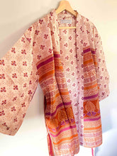 Load image into Gallery viewer, Boho Pink Short Kimono