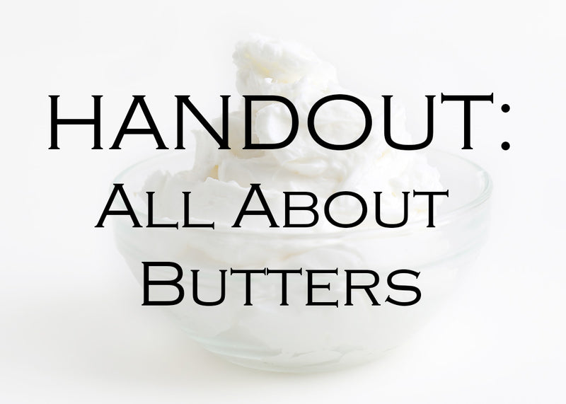 All About Whipped Butters HANDOUT