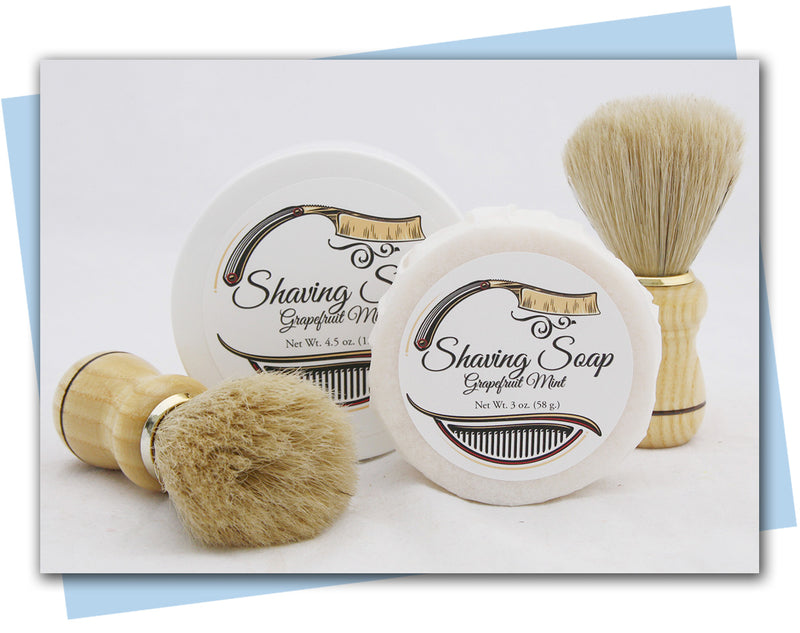 Shaving Soap: Grapefruit Mint