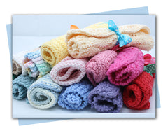 Hand Knitted Cotton Spa Cloths