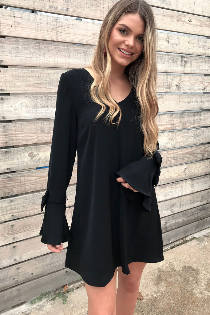 Too Cute For You Bow Dress - Black