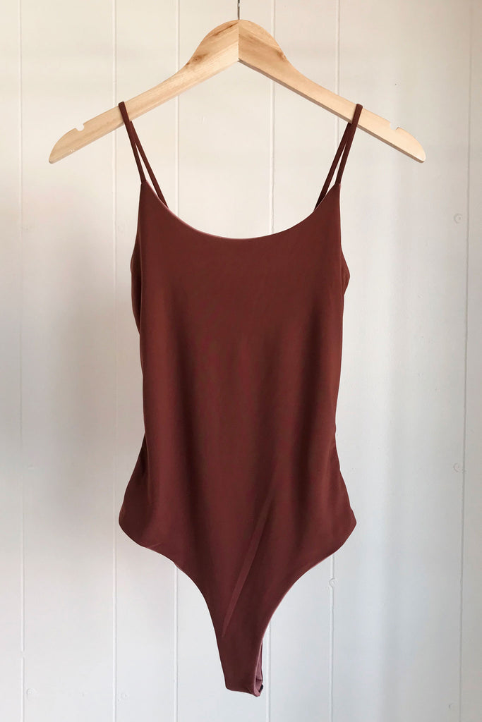 Cami Bodysuit- Red Brown