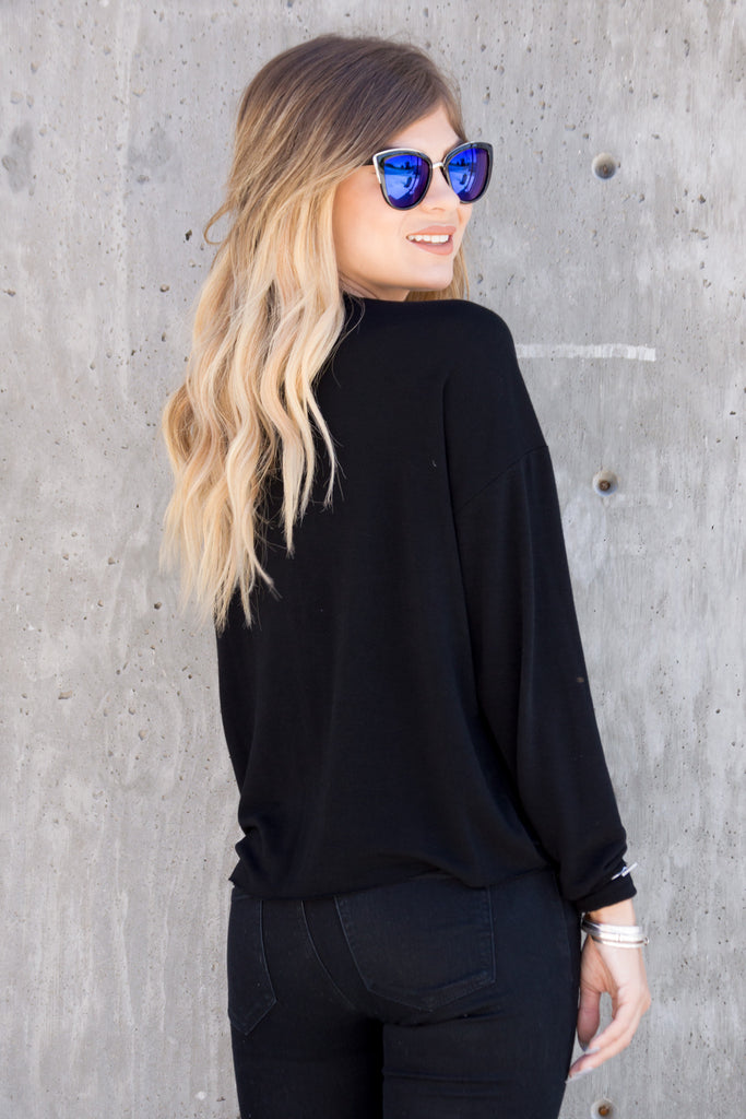 I've Got The Brunchies Sweatshirt Top - Black