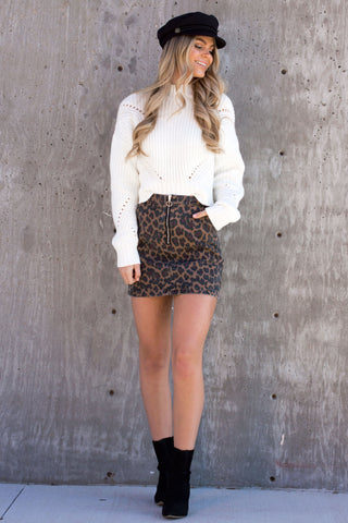 Mon Amour Chunky Cream Knit Sweater