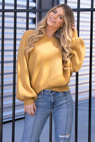 CHRISSY HONEY KNIT SWEATER