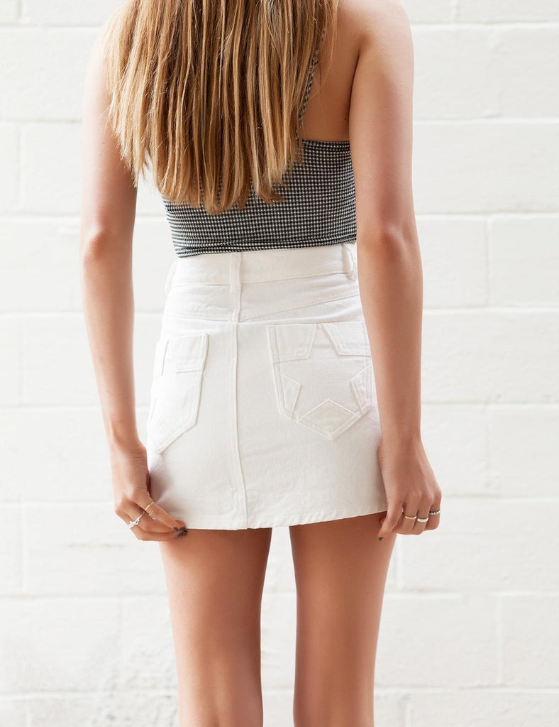 White Star Denim Skirt