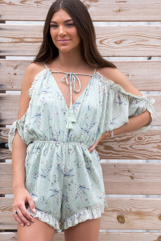 Aimi Floral Ruffle Playsuit