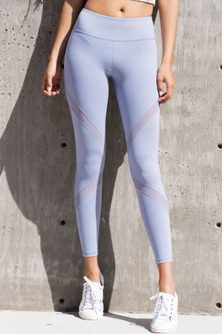 Cross Mesh Leggings Periwinkle