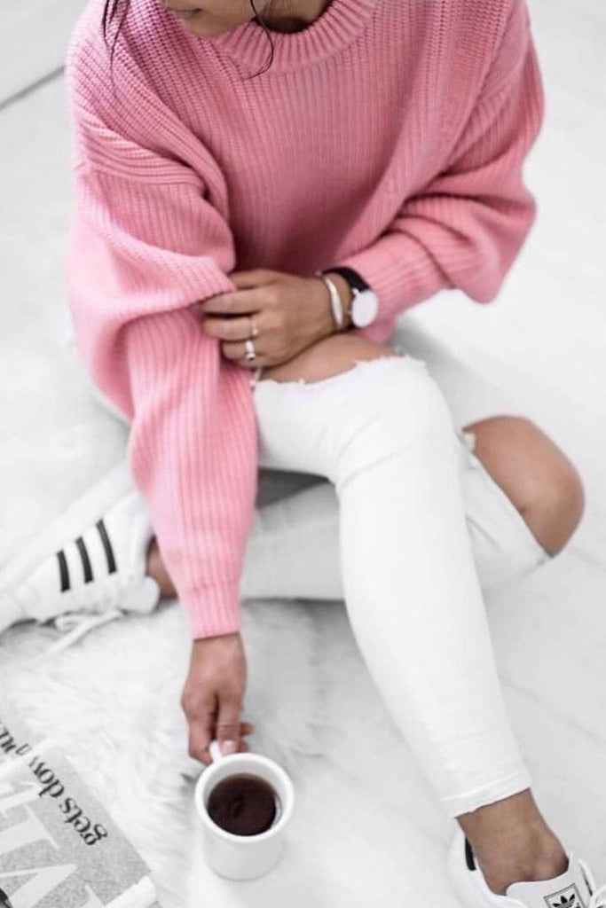Crazy in Love Pink Knit Sweater