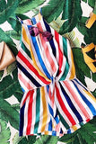 Living in Color Rainbow Stripe Romper