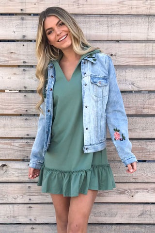 Stevie Sage Hoodie Sweatshirt Dress