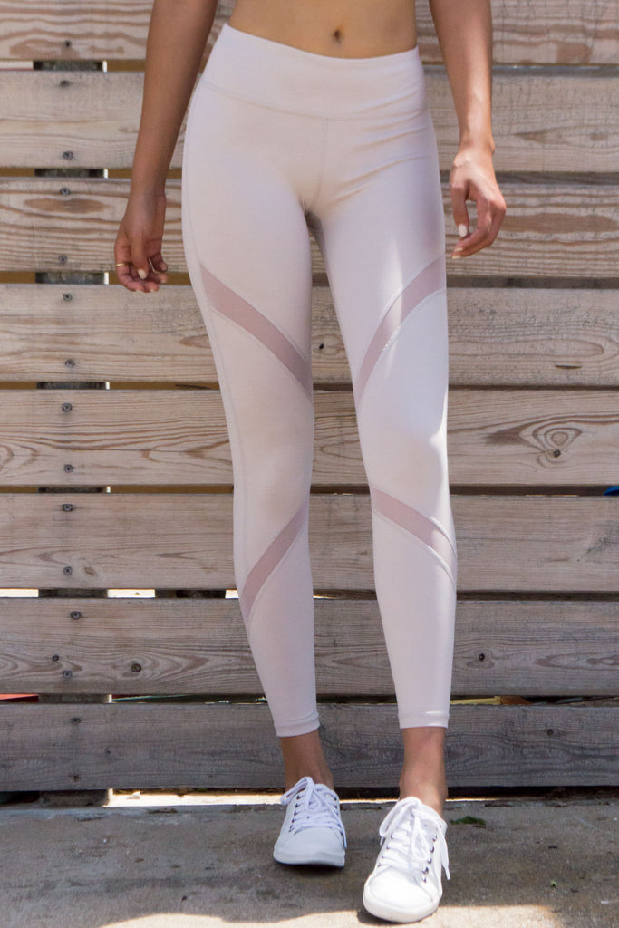 Stone Cross Mesh Leggings