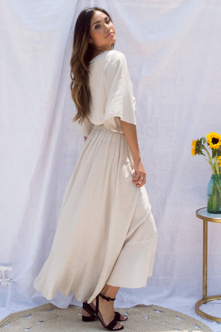 Anika Stripe Keyhole Maxi Dress