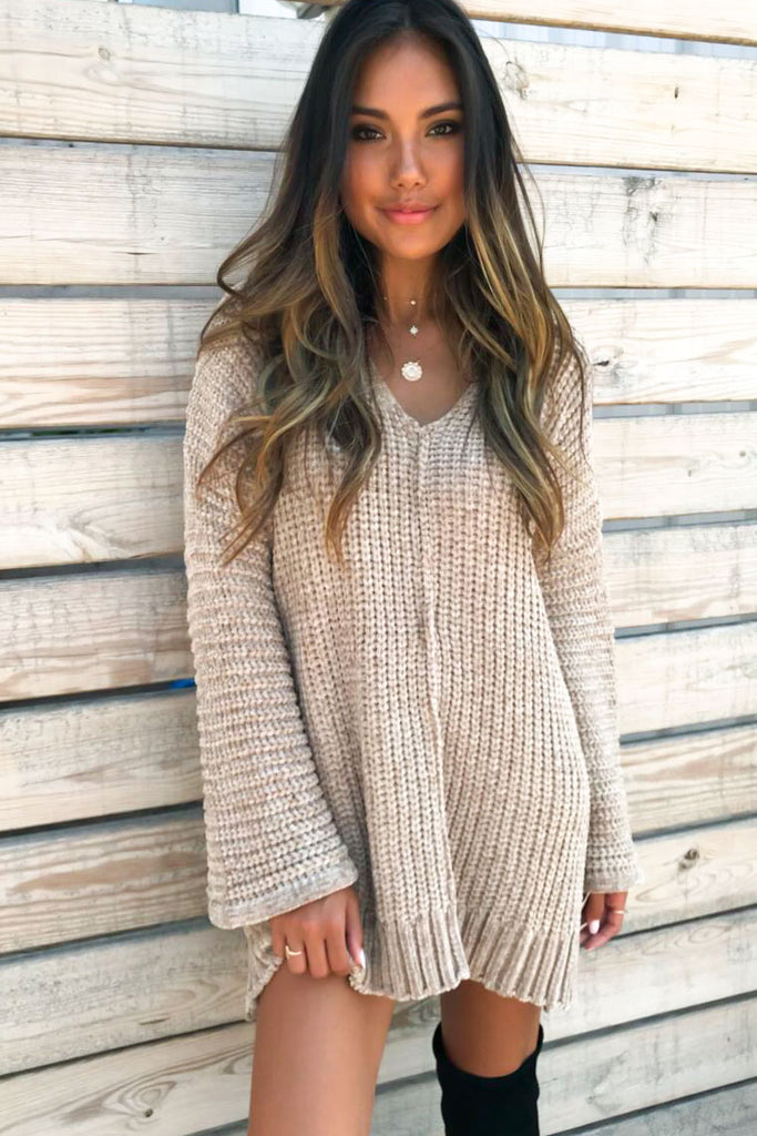Comfy V-neck Pullover Sweater
