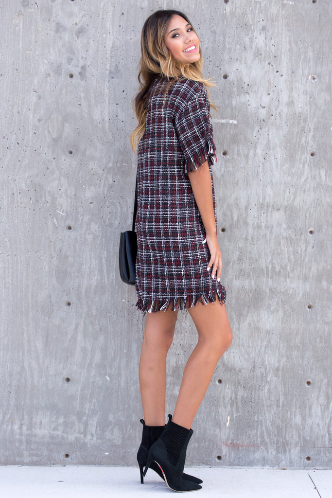 Major Crush Tweed Fringe Dress