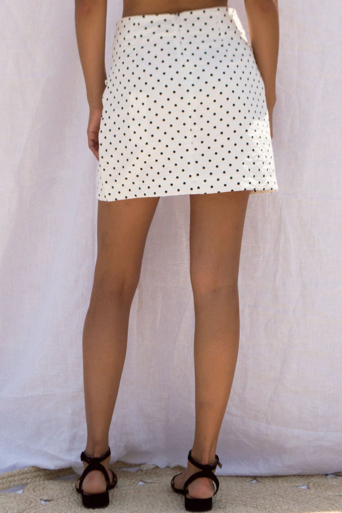 POLKA DOT Lace Up skirt