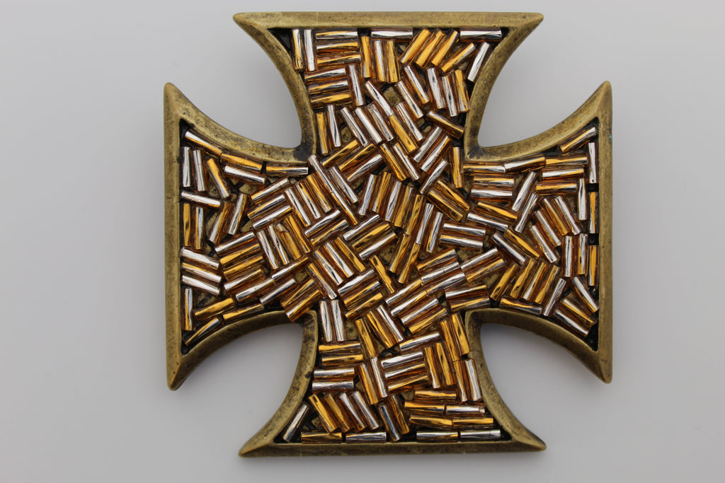 Gold Cross Belt Buckle