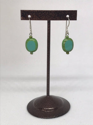 Turquoise Picasso oval earrings