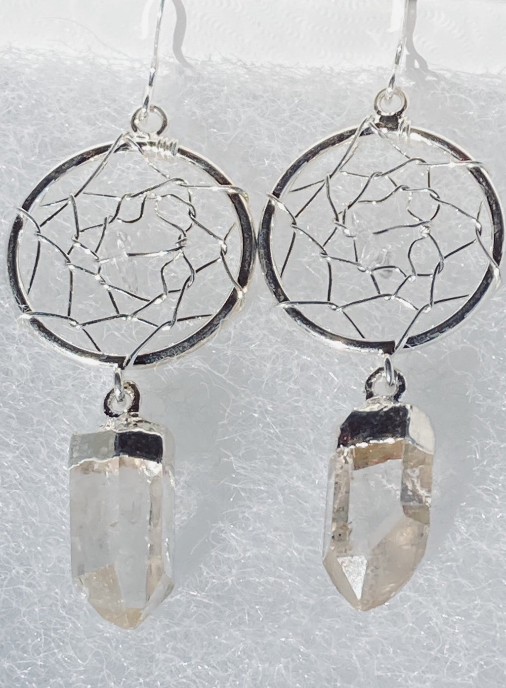 Crystal Dream Catcher earrings