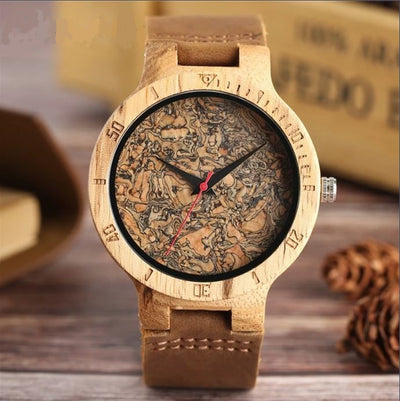 Broken Leaf Wood Watch