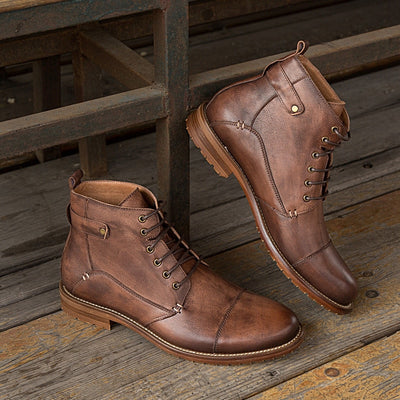 New leather casual men's boots