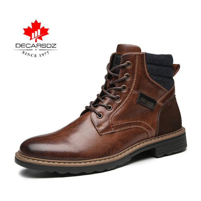 Men High Quality Leather Boots