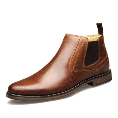 Genuine Leather Men Chelsea Boots