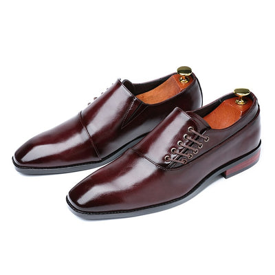 Men Leather Shoes British Style