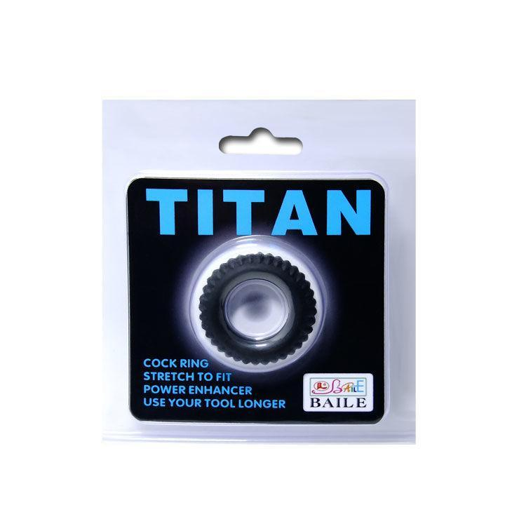 Baile For Him Accesorios Para El Pene Baile Titan Cockring Black 1.9cm