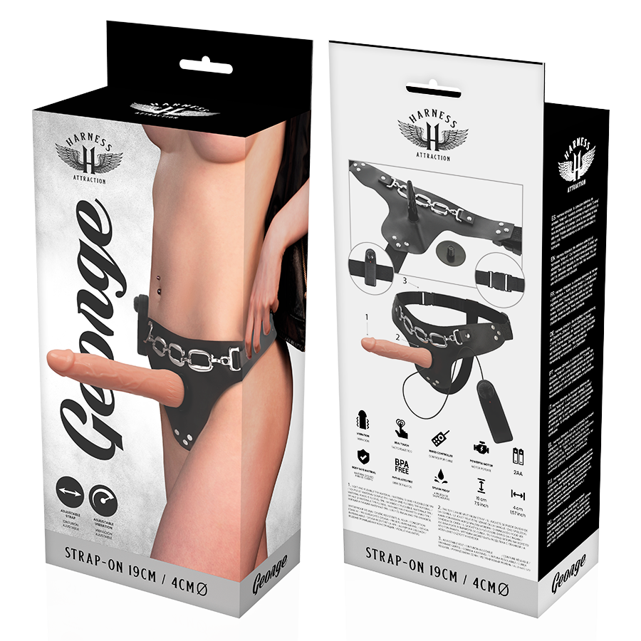 Harness Attraction Arneses Harness Attraction Árnes George Realistico Vibrador 19 X 4cm