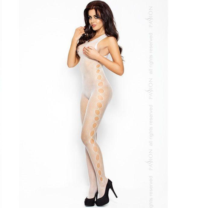 Passion Woman Bodystockings Catsuits/cuerpos En Red Passion Eroticline Catsuit Blanco Bs003
