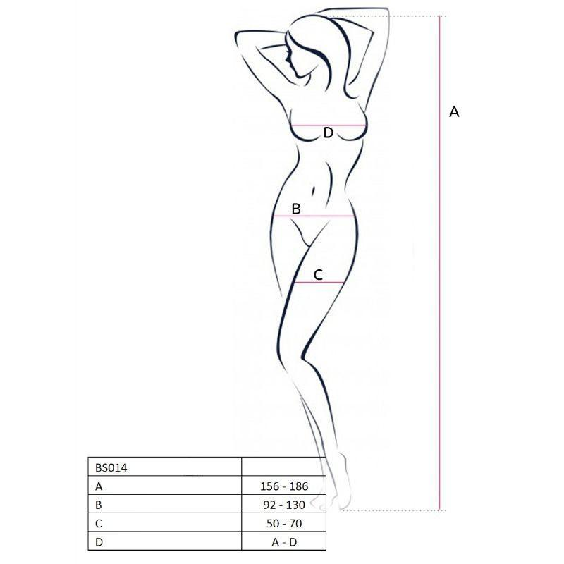 Passion Woman Bodystockings Catsuits/cuerpos En Red Passion Woman Bs014 Bodystocking Blanco Talla Unica