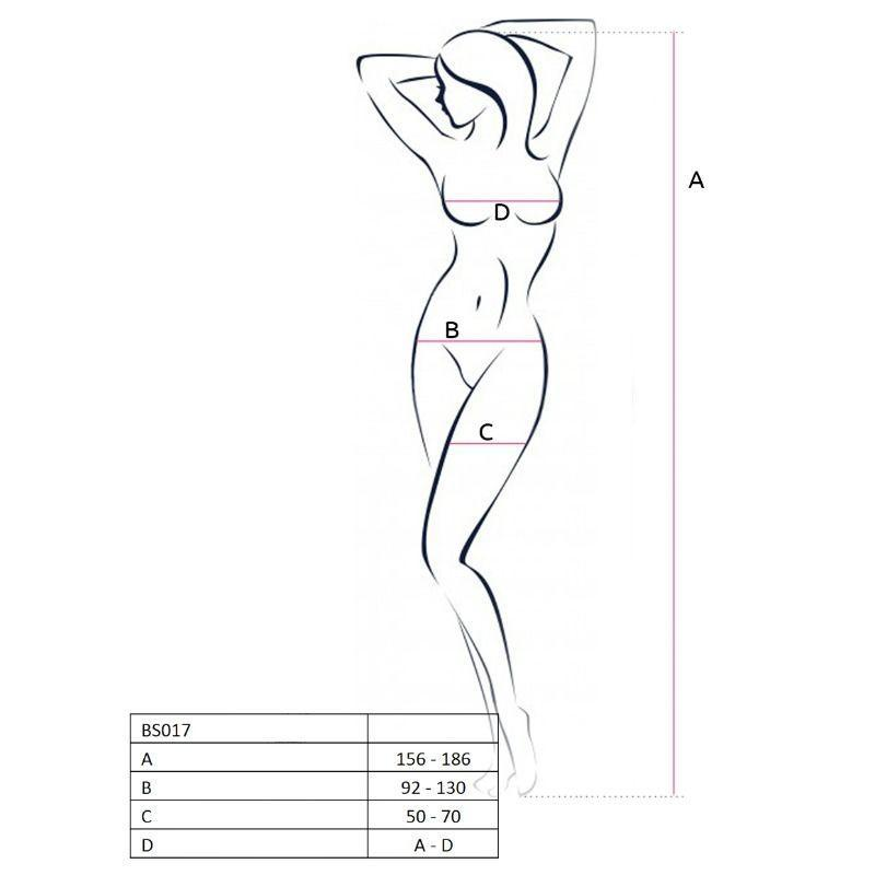 Passion Woman Bodystockings Catsuits/cuerpos En Red Passion Woman Bs017 Bodystocking Blanco Talla Unica