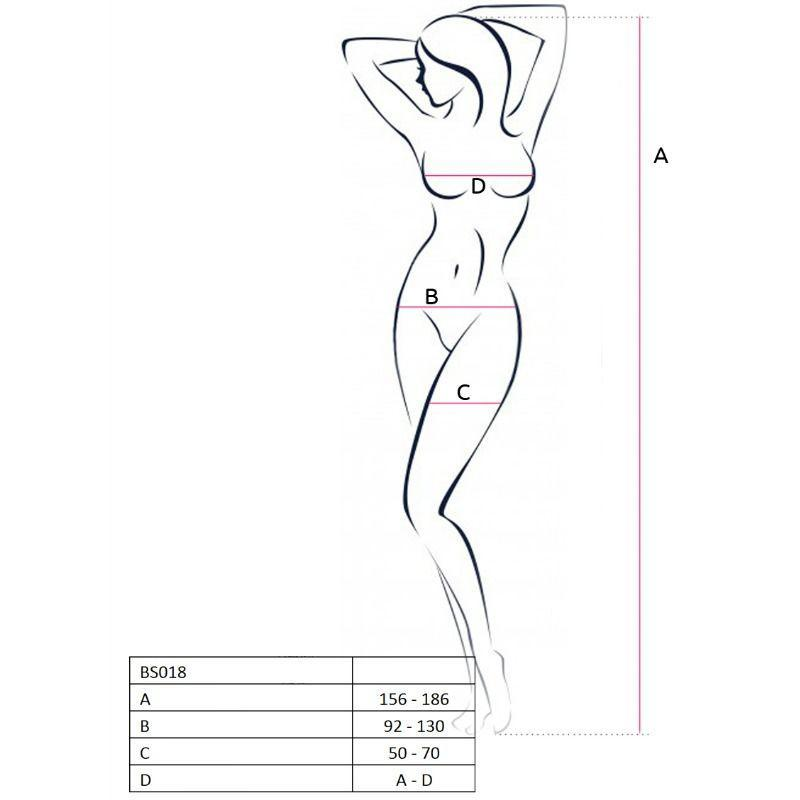 Passion Woman Bodystockings Catsuits/cuerpos En Red Passion Woman Bs018 Bodystocking Blanco Talla Unica