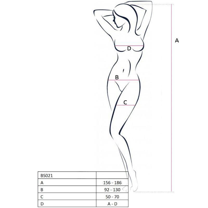 Passion Woman Bodystockings Catsuits/cuerpos En Red Passion Woman Bs021 Bodystocking Negro Talla Unica