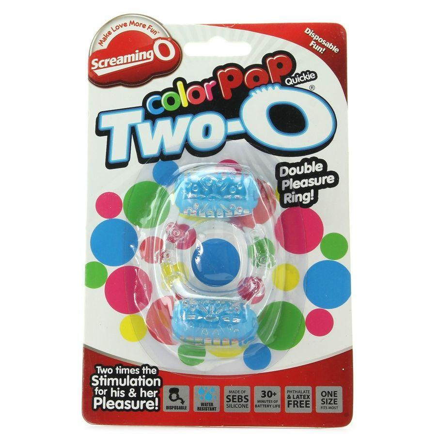 Screaming O Accesorios Para El Pene Screaming O Color Pop Two-o Anillo Azul