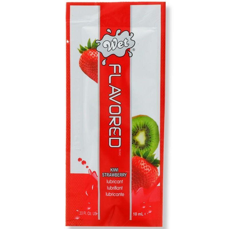 Wet Flavored Base De Agua Wet Flavored Lubricante Fresas Con Kiwi 10 Ml