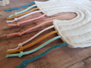 Hemp wall hanging<br>set of 3