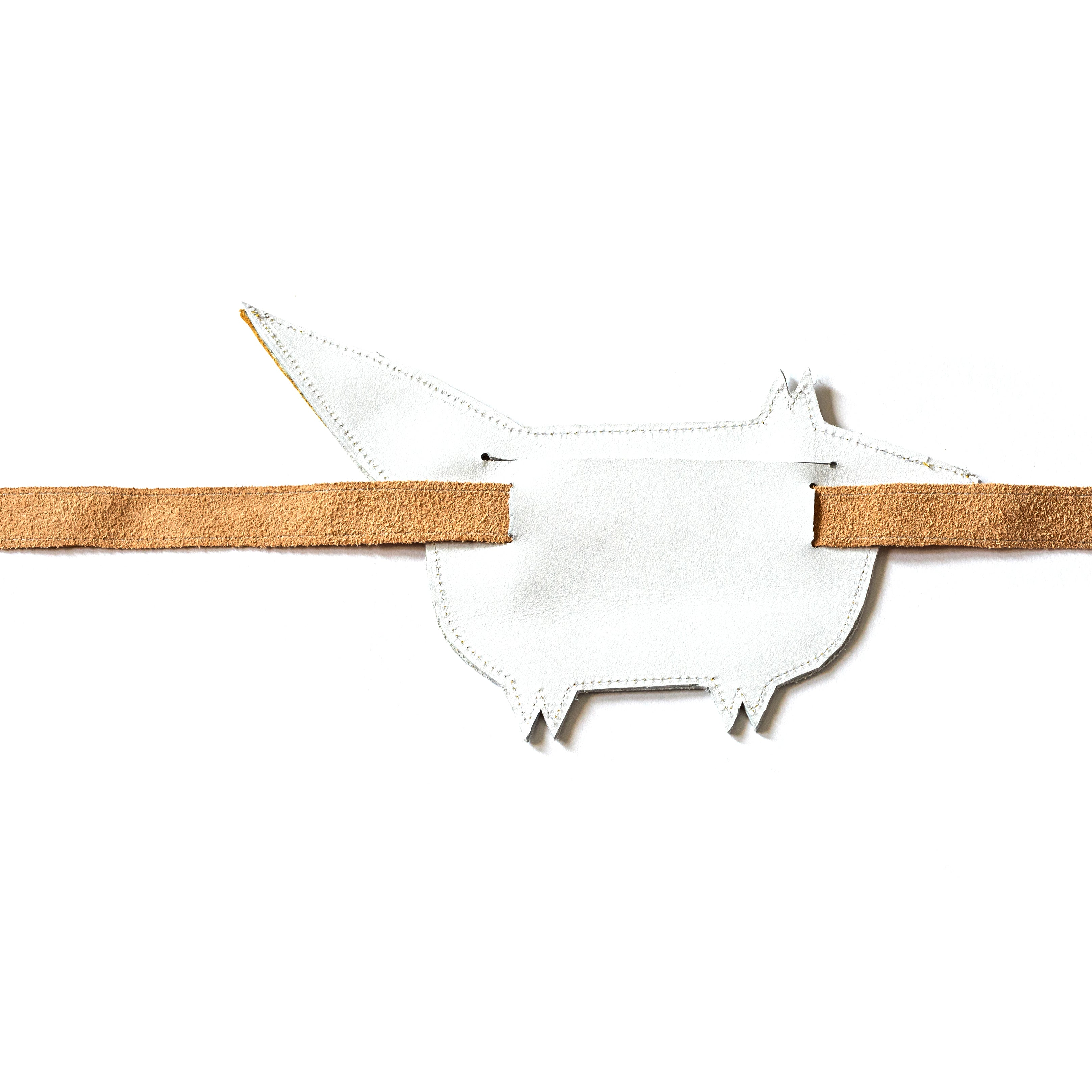 Eperfa leather belt bag fox, white, rear side