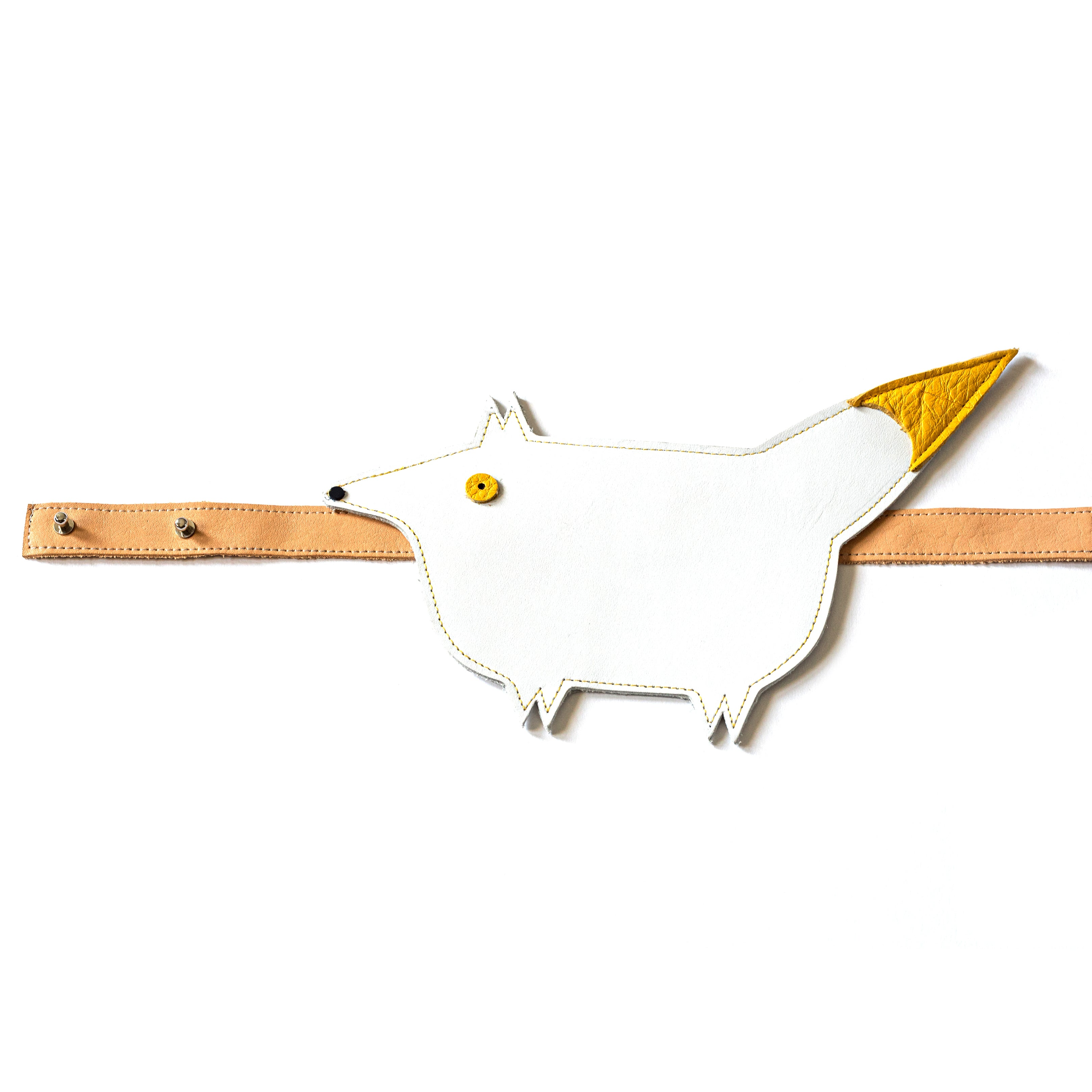 Eperfa leather belt bag fox, white