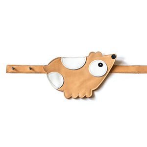 Eperfa leather belt bag bear, natural