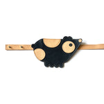 Eperfa leather belt bag bear, blue